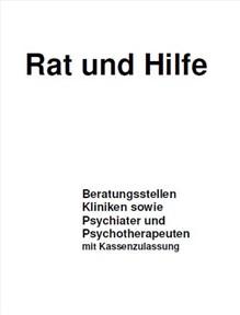 Rat und Hilfe - Titelbild Broschüre
